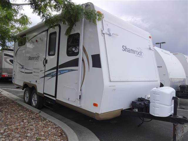 Used 2013 Flagstaff Shamrock 21DK Hybrid Travel Trailer For Sale