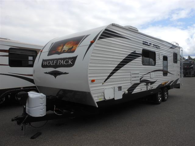 Used 2012 Forest River Wolf Pack 23WP Travel Trailer Toyhauler For Sale