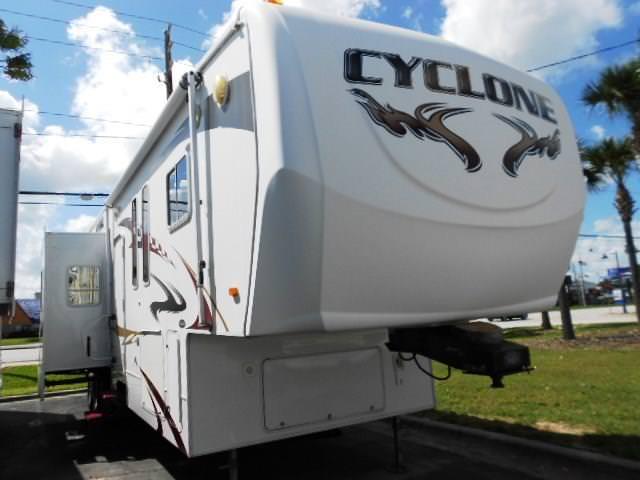 Used 2008 Heartland Cyclone 4012 Fifth Wheel Toyhauler For Sale