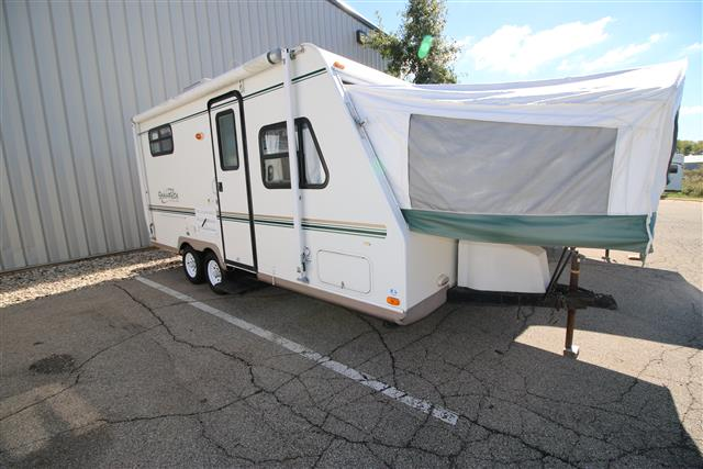 Used 2004 Forest River Shamrock 21FB Hybrid Travel Trailer For Sale