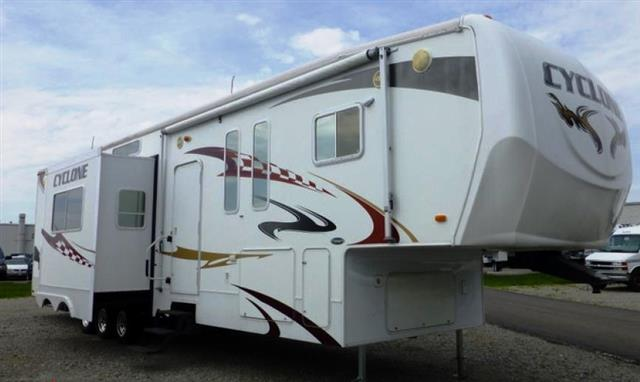 Used 2008 Heartland Cyclone 4012 Fifth Wheel Toyhauler For Sale