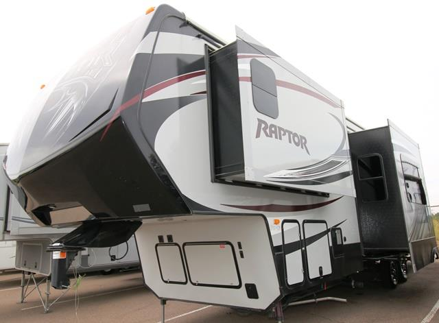 Used 2014 Keystone Raptor 332TS Fifth Wheel Toyhauler For Sale