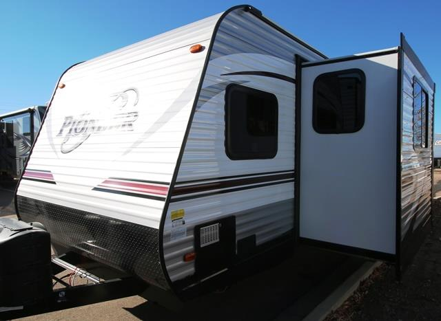 New 2016 Heartland Pioneer RG28 Travel Trailer Toyhauler For Sale