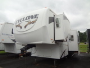 Used 2008 Heartland Cyclone 3612TYP Fifth Wheel Toyhauler For Sale