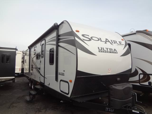 New 2015 Forest River SOLAIRE ULTRA-LITE 28QBSS Travel Trailer For Sale