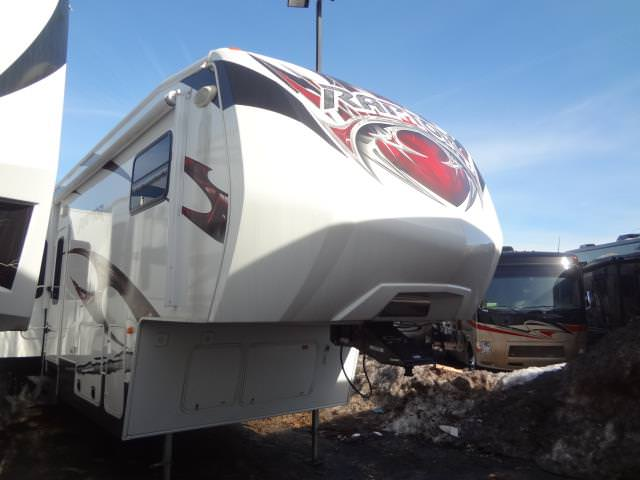 Used 2012 Keystone Raptor 410LEV Fifth Wheel Toyhauler For Sale