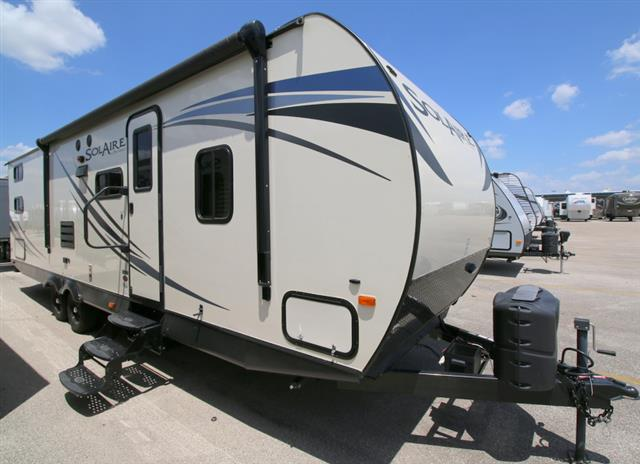 Used 2015 Forest River SOLAIRE 7 28QBSS Travel Trailer For Sale