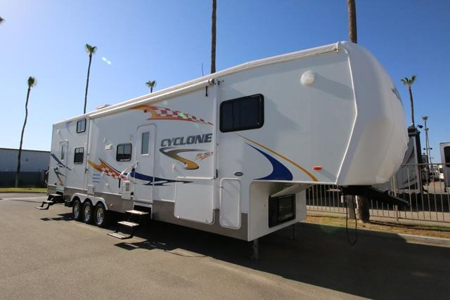 Used 2007 Heartland Cyclone 3795 Fifth Wheel Toyhauler For Sale
