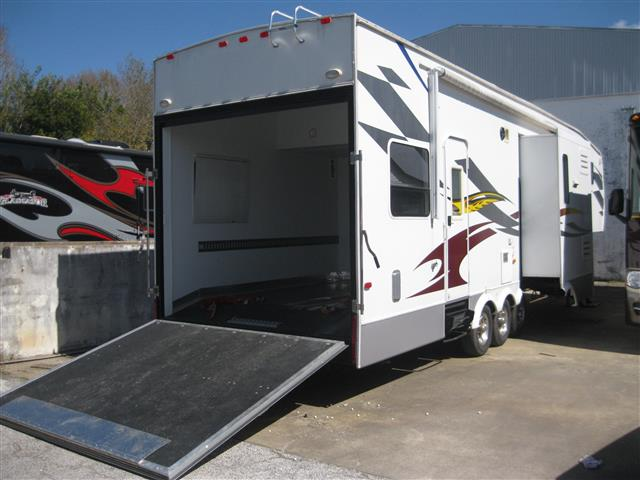 Used 2008 Dutchmen Victory Lane 38 TRIPLE SLIDE Fifth Wheel Toyhauler For Sale