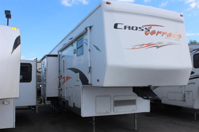 Used 2006 Crossroads Cross Terrain TF37CK Fifth Wheel Toyhauler For Sale