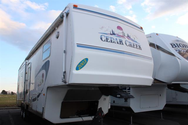 Used 2003 Forest River Cedar Creek 30CKTS Fifth Wheel For Sale