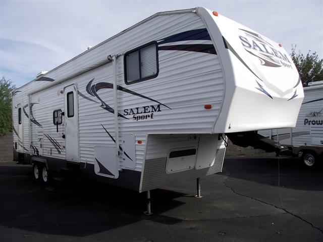 Used 2013 Forest River Salem 32SRV Fifth Wheel Toyhauler For Sale