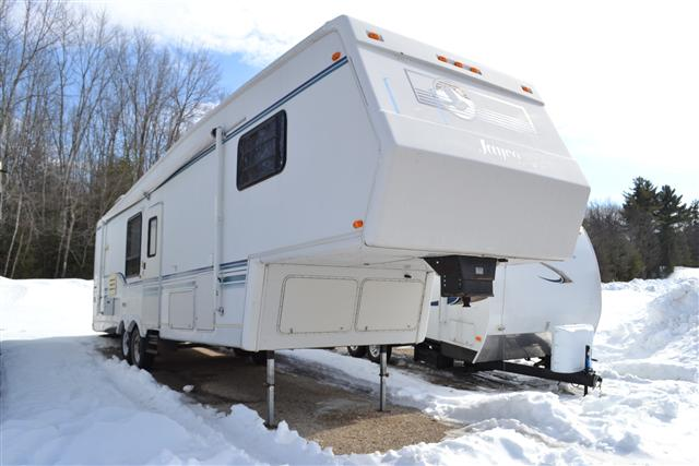 Buy a Used Jayco Designer in Center Conway, New Hampshire.
