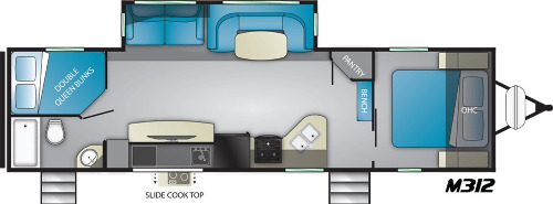 Floor Plan : 2020-HEARTLAND-M312