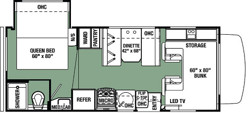 Floor Plan : 2019-FOREST RIVER-2251SC