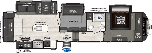 Floor Plan : 2020-KEYSTONE-3571FWLFT