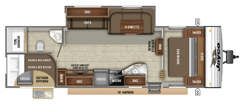 Floor Plan : 2020-JAYCO-284BHS