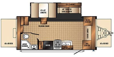 Floor Plan : 2015-FOREST RIVER-190X