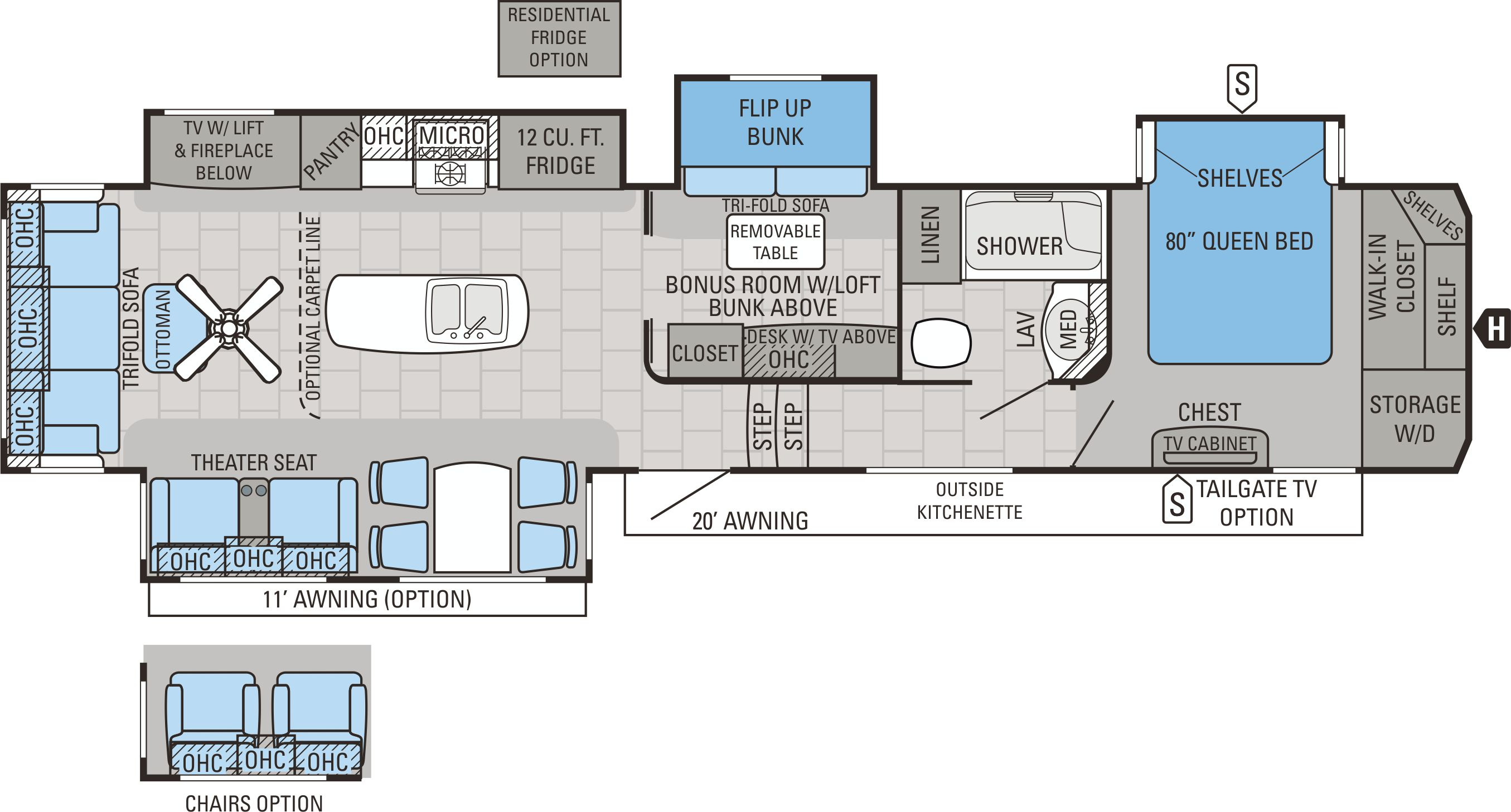 View Floor Plan for 2016 JAYCO NORTH POINT 377RLBH