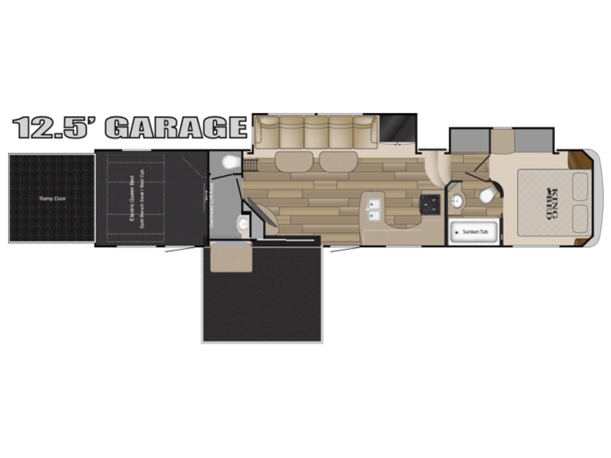 View Floor Plan for 2016 HEARTLAND ROAD WARRIOR 427