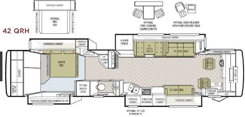Floor Plan : 2008-TIFFIN-42QRH