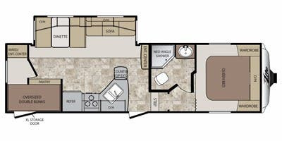 Floor Plan : 2011-KEYSTONE-27SAB