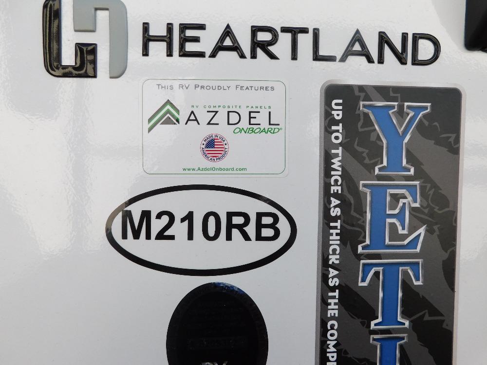 2021 Heartland RVs m210rb