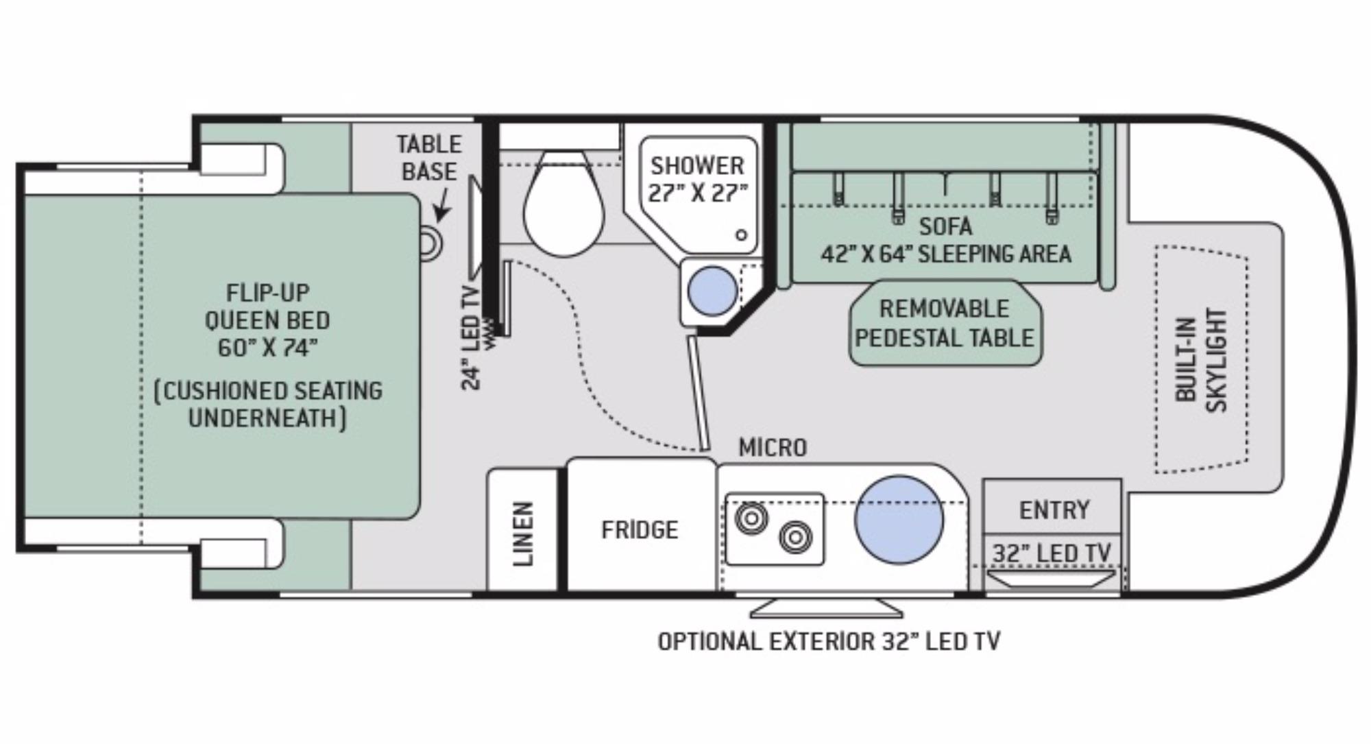 Kodiak Rv Floor Plans 2017 Thor Gemini 23tr Camping World Of Bossier City