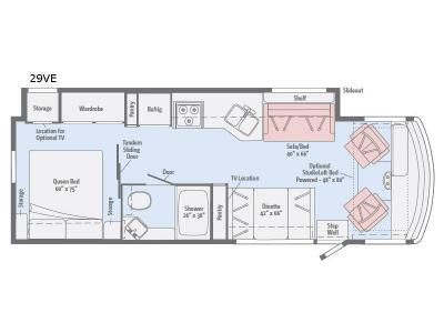 Floor Plan : 2019-WINNEBAGO-29VE