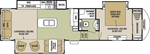 Floor Plan : 2019-FOREST RIVER-33IK