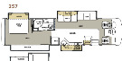 Floor Plan : 2008-FOREST RIVER-357QS
