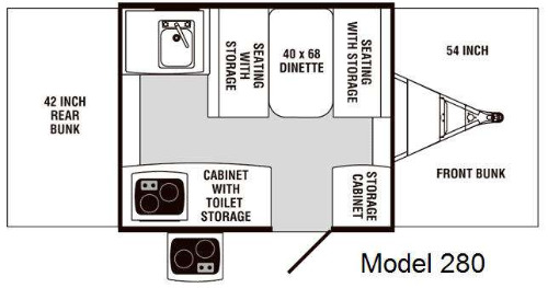 Floor Plan : 2007-FOREST RIVER-280