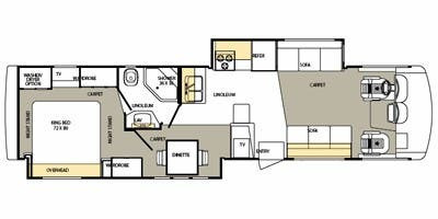 Floor Plan : 2008-FOREST RIVER-373DS