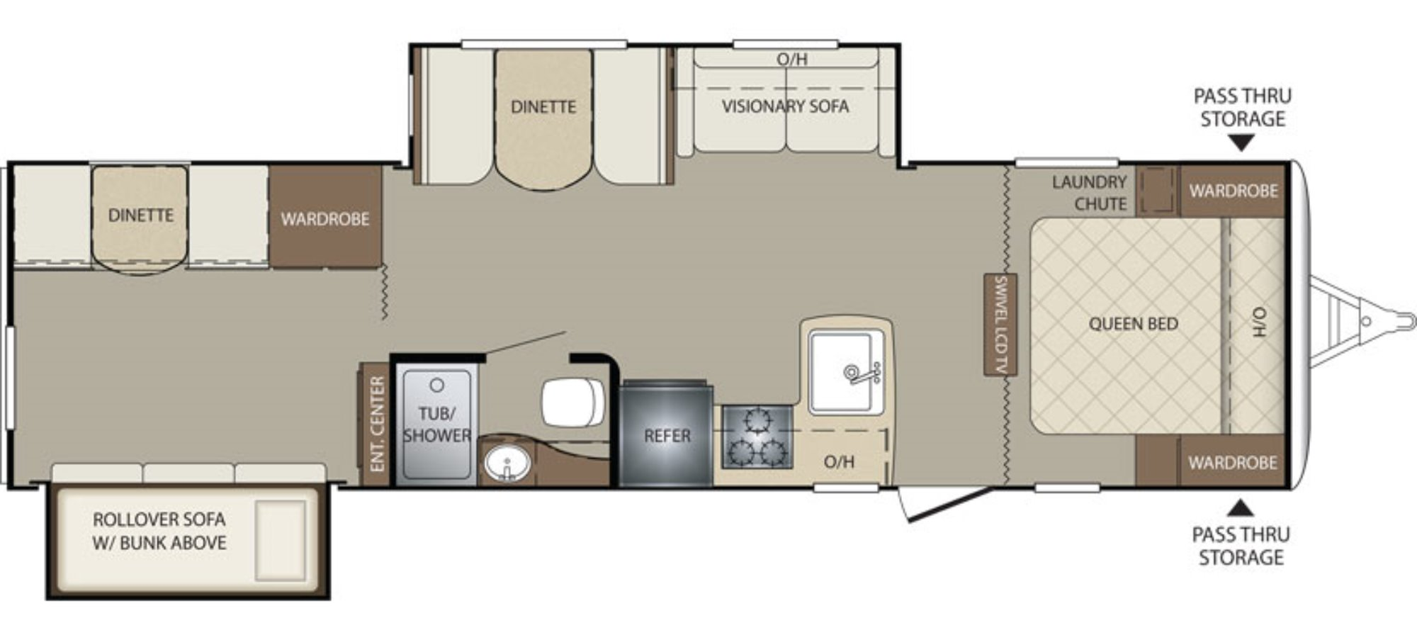 ... Travel Trailer Floor Plans With Bunk Beds likewise Keystone Bullet