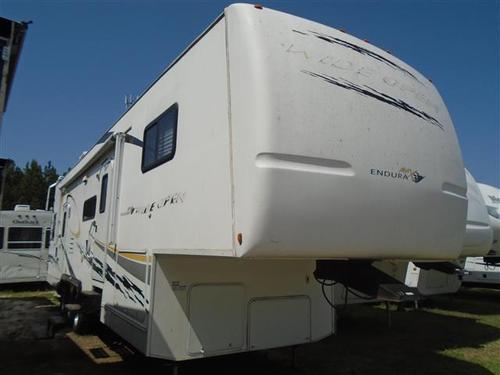 Used 2007 ENDURA MAX WIDE OPEN 420 Fifth Wheel Toyhauler For Sale