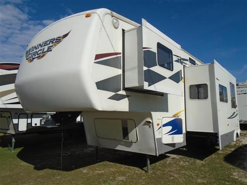 Used 2007 Dutchmen Winners Circle 38SRV Fifth Wheel Toyhauler For Sale