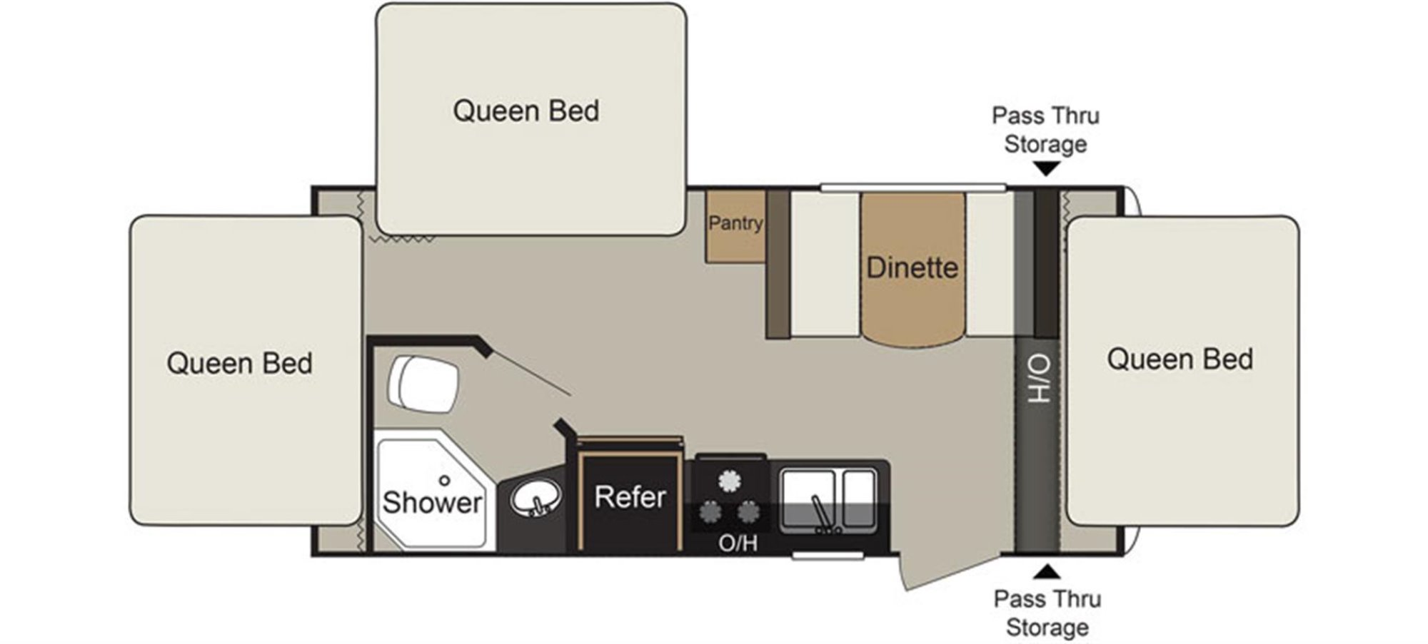 View Floor Plan for 2016 KEYSTONE PASSPORT 177EXP