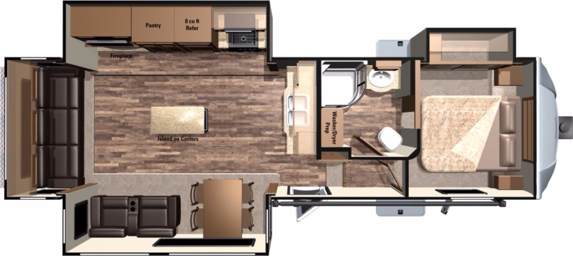 View Floor Plan for 2017 HIGHLAND RIDGE LIGHT 319RLS