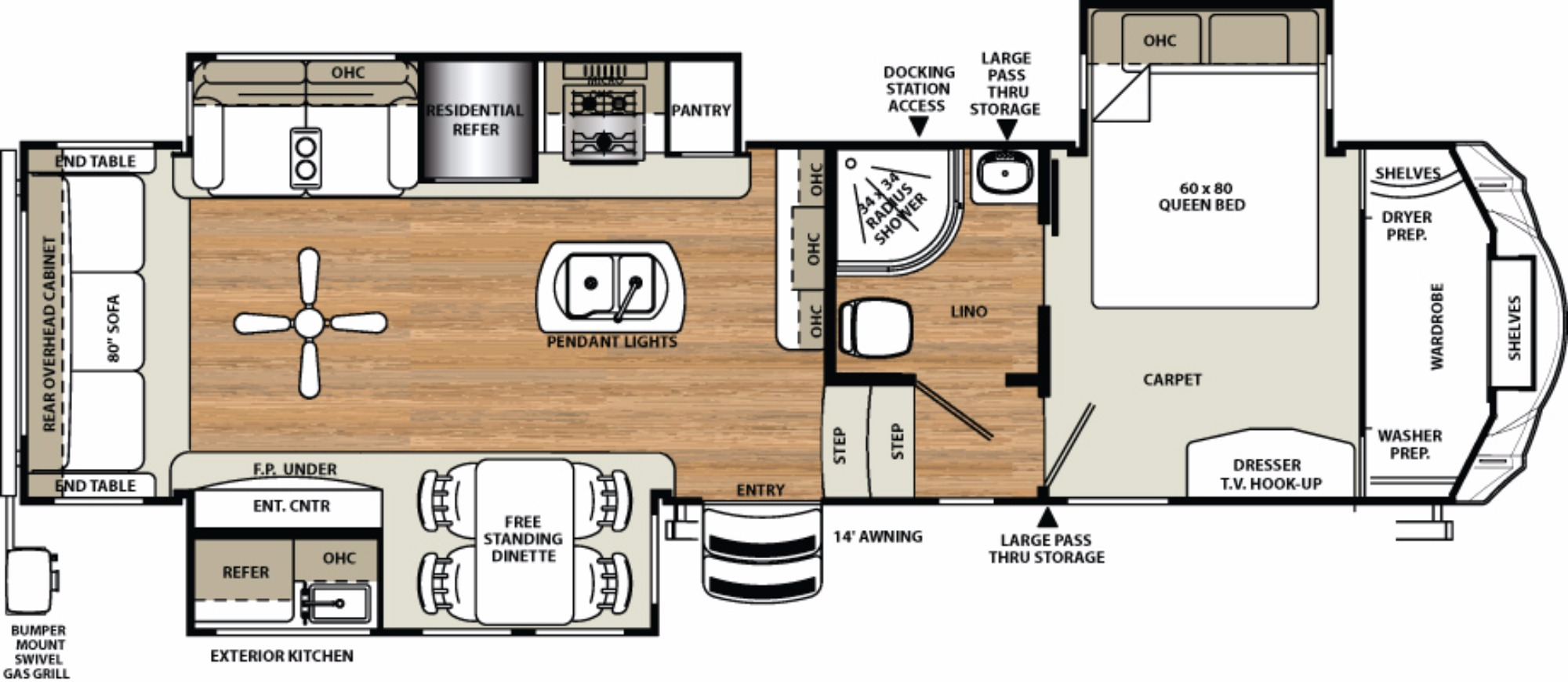 2017 Forest River Sandpiper 343rsok Camping World Of