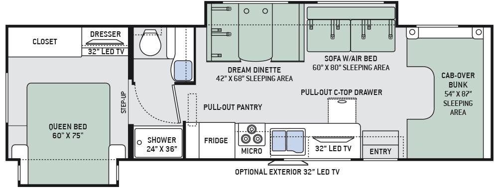 Thor class c motorhome floor plans gurus floor for Chateau rv floor plans