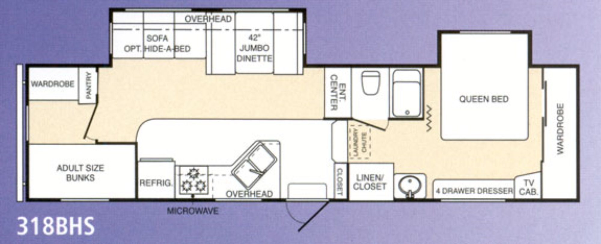 Open Road Fifth Wheel Floor Plans: 2004 Keystone Montana 318bhs