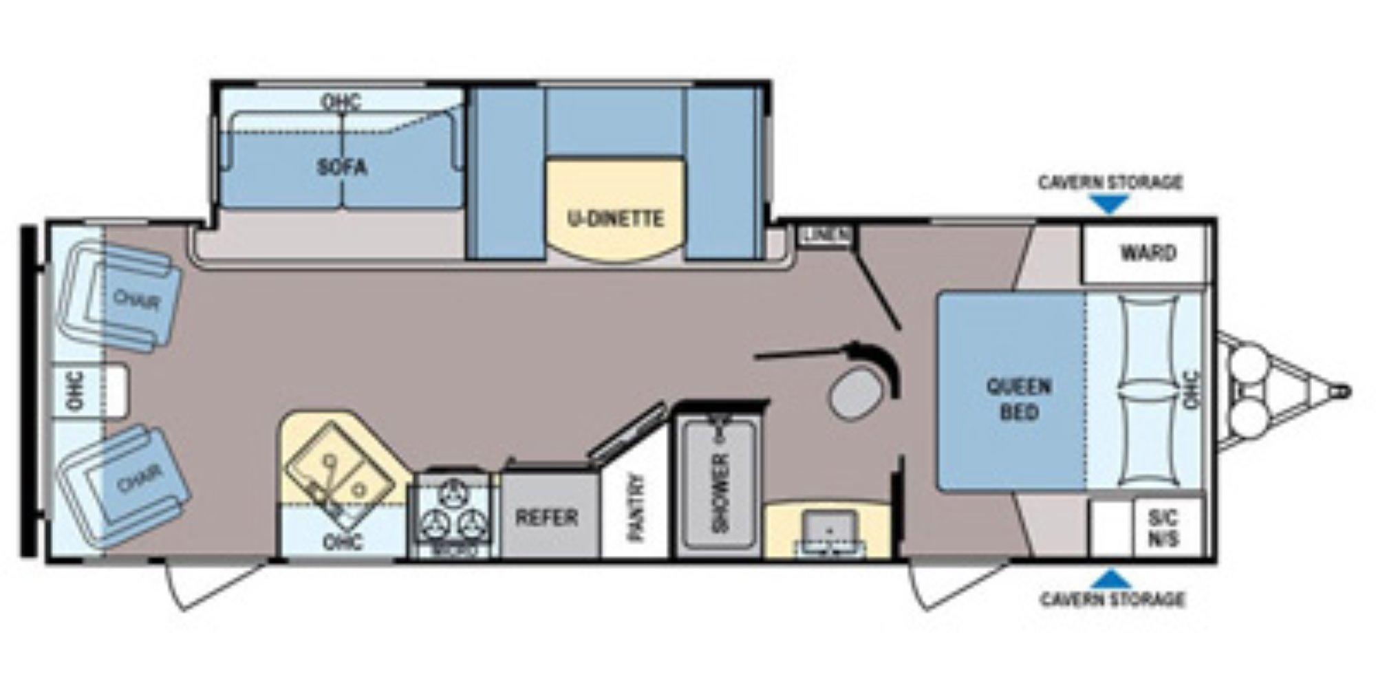 Zinger Travel Trailers Floor Plans Used 2015 Dutchmen Coleman 270rl Travel Trailer For Sale