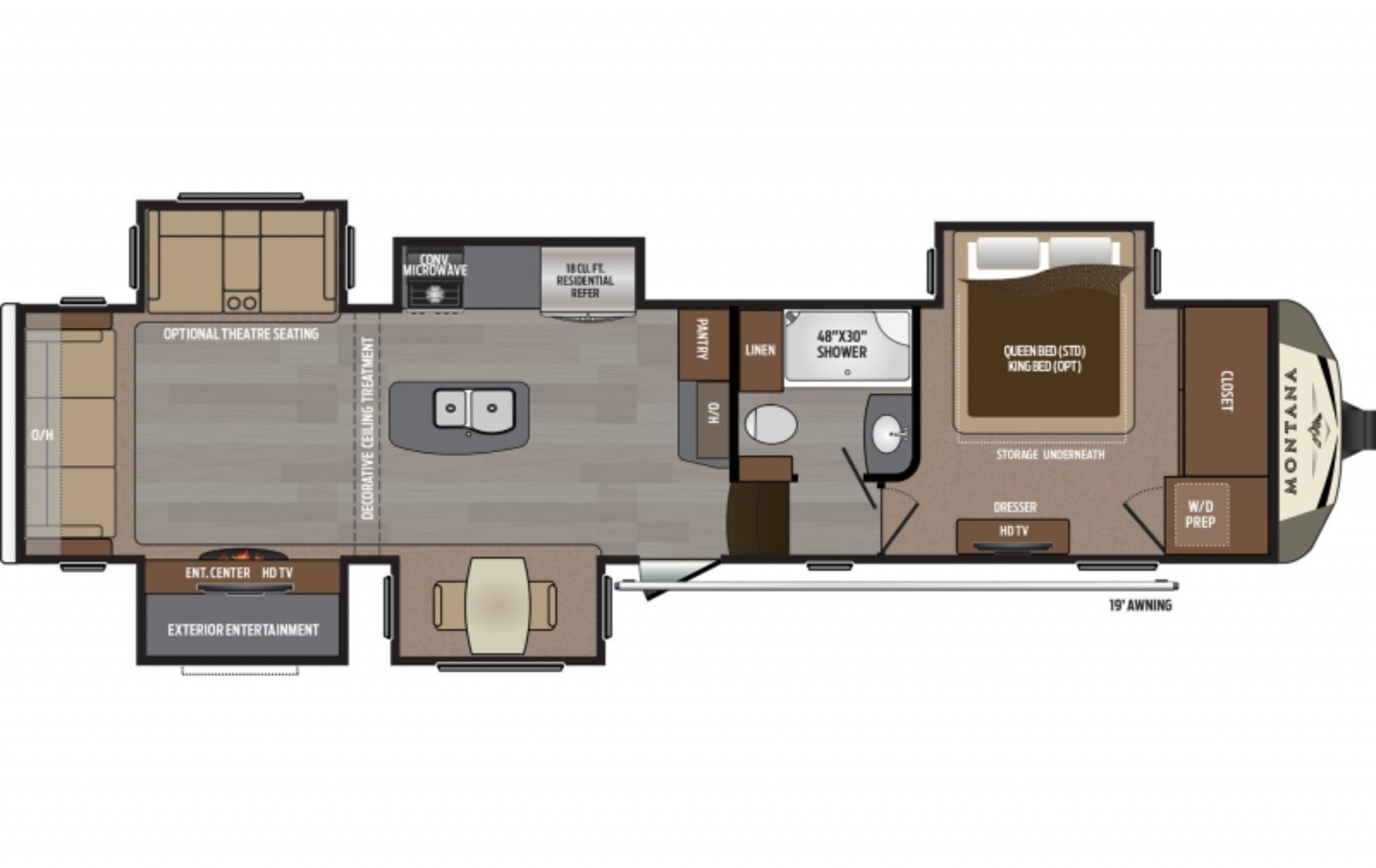 New 2017 Keystone Montana 3661rl Fifth-wheel For Sale