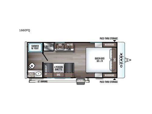 Bedroom : 2020-FOREST RIVER-1660FQ
