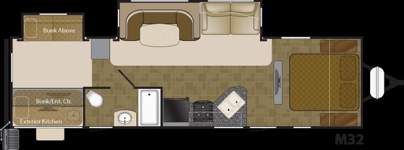 View Floor Plan for 2017 HEARTLAND MALLARD IDM32