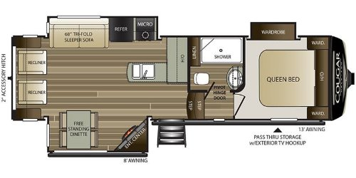Floor Plan : 2020-KEYSTONE-27SGS