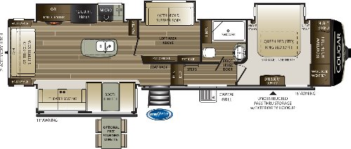 Floor Plan : 2020-KEYSTONE-368MBI
