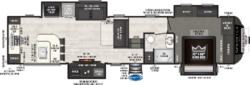 Floor Plan : 2021-KEYSTONE-3550MLS