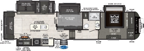 Floor Plan : 2021-KEYSTONE-3570LFT