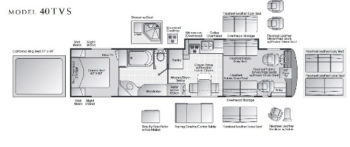 Floor Plan : 1998-AMERICAN COACH-40TVS